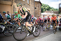 Peloton including Luke Durbridge (AUS/Mitchelton Scott), Greg Van Avermaet (BEL/CCC) and green jersey Peter Sagan (SVK/Bora Hansgrohe)<br /> <br /> Stage 8: Macon to Saint-Etienne (200km)<br /> 106th Tour de France 2019 (2.UWT)<br /> <br /> ©kramon