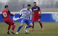 Adel Taarabt of QPR takes on Shaun Maloney of Chicago Fire