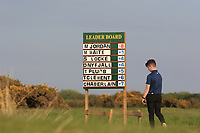 The score board at the 18th tee  during Round 4 of the Lytham Trophy on Sunday 6th May 2018.<br /> Picture:  Thos Caffrey / www.golffile.ie<br /> <br /> All photo usage must carry mandatory copyright credit (&copy; Golffile | Thos Caffrey)