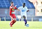 2018-07-14 / Voetbal / Seizoen 2018-2019 / FC Kontich - KFCO Beerschot Wilrijk / Rob Dekleermaeker met Youad Ndombasi (r. B-W)<br /> <br /> ,Foto: Mpics