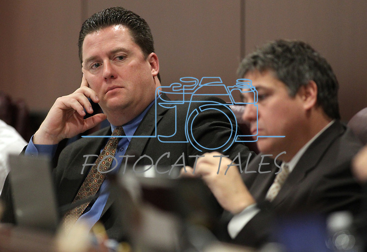 Nevada Assembly Democrats John Oceguera, left, and Marcus Conklin work in commitee  Tuesday, May 10, 2011, at the Legislature in Carson City, Nev..Photo by Cathleen Allison