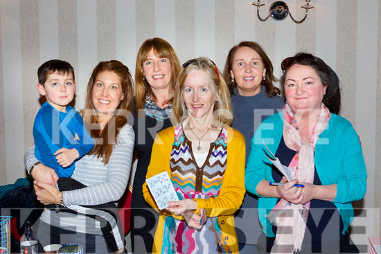 Sean and Susan McElligott, Kathleen Daly, Mary Carroll, Antoinette Clancy and Caroline Cox at the Gaelscoil Faitleann bingo in the Gleneagle Hotel on Sunday