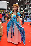 Manhattan, New York City, New York, USA. October 10, 2015. SARAH NIELSEN, of Richmond, Virginia, is a cosplayer portraying Disney princess Giselle from Enchanted, at the 10th Annual New York Comic Con. NYCC 2015 is expected to be the biggest one ever, with over 160,000 attending during the 4 day ReedPOP event, from October 8 through Oct 11, at Javits Center in Manhattan