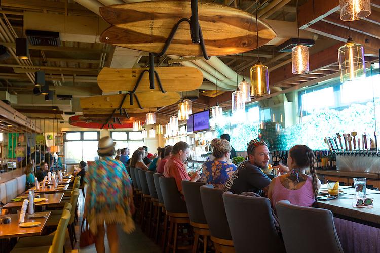 Monkeypod Kitchen, a restaurant in Wailea, Maui, Hawaii, USA