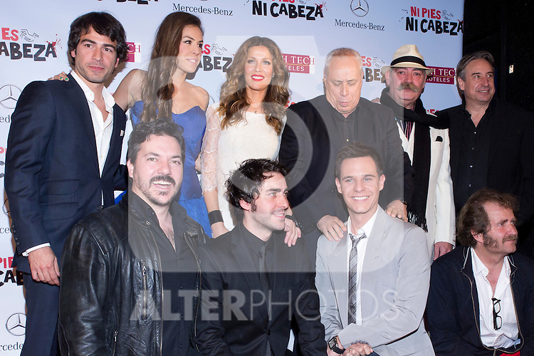 "22.05.2012. Premier of the film ""heads or tails"" at the Callao Cinema in Madrid. A detective comedy of Antonio del Real, with Christian Galvez and Jaydy Michel. In the picture:  Miguel Hermoso, Alejandro Tous, Jose Troncoso, Blanca Jara, Jaydy Michel, Christian Galvez,  Antonio del Real , Tomas Saez  and Juanjo Puigcorbé (Alterphotos/Marta Gonzalez)"