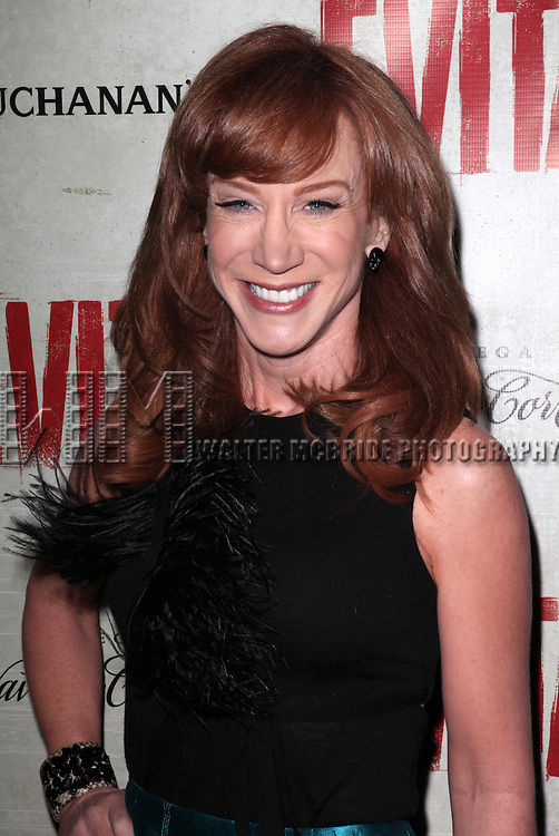 Kathy Griffin.attending the Broadway Opening Night Performance of 'EVITA' at the Marquis Theatre in New York City on 4/5/2012 © Walter McBride / WM Photography