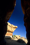 Eroded sandstone formations, Devil's Garden Natural Area, Grand Staircase Escalante N.M., UTAH