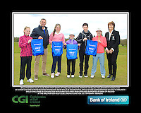 Ballykisteen GC team and Lady Captain with Bank of Ireland Official Morgan Whelan and CGI Participation Officer Jennifer Hickey with Junior golfers across Munster practicing their skills at the regional finals of the Dubai Duty Free Irish Open Skills Challenge at the Ballykisteen Golf Club, Limerick Junction, Co. Tipperary. 16/04/2016.<br /> Picture: Golffile | Thos Caffrey<br /> <br /> <br /> <br /> <br /> <br /> All photo usage must carry mandatory copyright credit (© Golffile | Thos Caffrey)