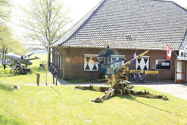 Military museum at Deelen during Stage 2 of the 2016 Giro d'Italia running 190km from Arnhem to Nijmegen, The Nethrerlands. 7th May 2016.<br /> Picture: Eoin Clarke   Newsfile<br /> <br /> <br /> All photos usage must carry mandatory copyright credit (&copy; Newsfile   Eoin Clarke)