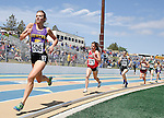 RAPID CITY, SD - MAY 30: Tori Glazier #106 of Custer runs down the back stretch in the girls class A 1600 meter run during the 2015 SDHSAA State Track & Field Meet Saturday at O'Harra Stadium in Rapid City, S.D. (Photo by Dick Carlson/Inertia)