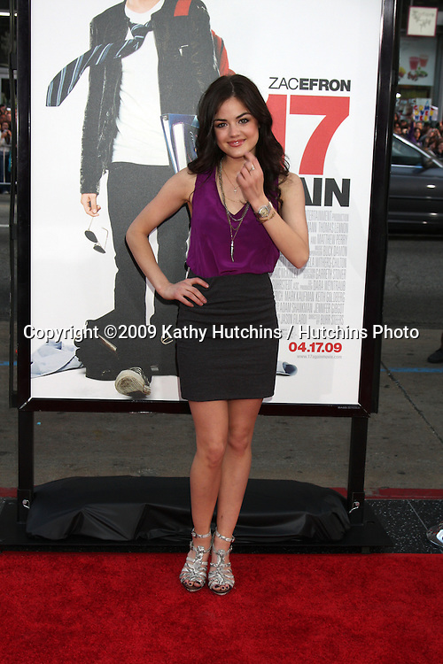 Lucy Hale   arriving at the 17 Again Premiere at Grauman's Chinese Theater in Los Angeles, CA on April 14, 2009.©2009 Kathy Hutchins / Hutchins Photo....                .