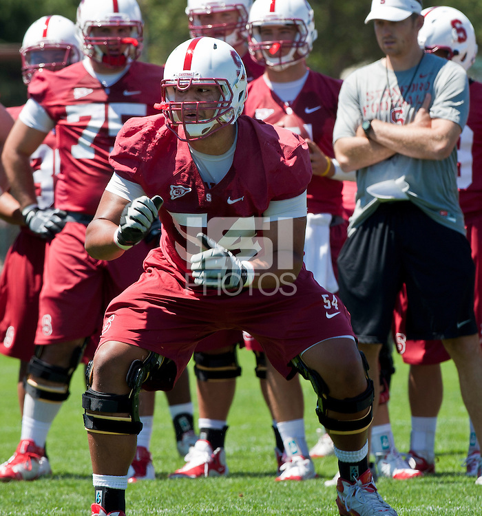 Stanford, CA – August 8, 2011: First day of practice for the Stanford Football team.