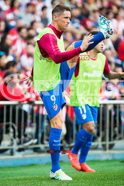 Atletico de Madrid's player Fernando Torres during a match of La Liga Santander at Vicente Calderon Stadium in Madrid. September 17, Spain. 2016. (ALTERPHOTOS/BorjaB.Hojas) /NORTEPHOTO