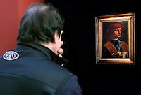 """IL MUSICO - THE MUSICIAN<br /> Roma 10/12/2010 Per la prima volta a Roma ai Musei Capitolini il dipinto """"il Musico"""" di Leonardo Da Vinci.<br /> For the first time in Rome, the paint """"The Musician"""" by Leonardo Da Vinci.<br /> Photo Zucchi Insidefoto"""
