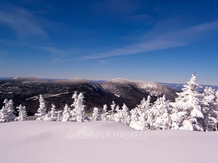View of Crocker mountains as seen from Sugarloaf Mountain, Carrrabassett Valley, Maine.