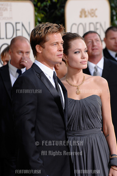 BRAD PIT & ANGELINA JOLIE at the 64th Annual Golden Globe Awards at the Beverly Hilton Hotel..January 15, 2007 Beverly Hills, CA.Picture: Paul Smith / Featureflash