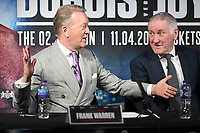 Frank Warren (L) and John Rawling during a Press Conference at the BT Tower on 7th February 2020