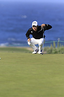 Sang-Moon Bae (KOR) on the 5th green of Monterey Peninsula CC during Saturday's Round 3 of the 2018 AT&amp;T Pebble Beach Pro-Am, held over 3 courses Pebble Beach, Spyglass Hill and Monterey, California, USA. 10th February 2018.<br /> Picture: Eoin Clarke | Golffile<br /> <br /> <br /> All photos usage must carry mandatory copyright credit (&copy; Golffile | Eoin Clarke)