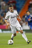 26.09.2012 SPAIN - Real Madrid and Millonarios played  for the 34th Santiago Bernabéu Trophy. The score at was 8-0 with three goals from Kaká, Morata (2), Callejon (2) and Benzema (1). The picture show Jose Ignacio Fernandez Iglesias (Real Madrid)