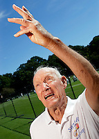 USTA National Mens 85 & 90 Grass Court Championships.Longwood Cricket Club..89-yr-old Alex Swetka from Mountain View, CA.
