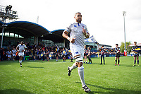 Taulupe Faletau and the rest of the Bath Rugby team run out onto the field. Aviva Premiership match, between Worcester Warriors and Bath Rugby on April 15, 2017 at Sixways Stadium in Worcester, England. Photo by: Patrick Khachfe / Onside Images