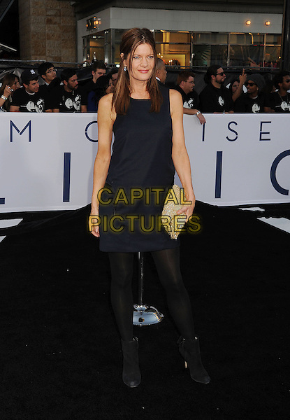 "Michelle Stafford.""Oblivion"" Los Angeles Premiere held at the Dolby Theatre, Hollywood, California, USA..April 10th, 2013.full length black dress tights sleeveless ankle boots gold clutch bag .CAP/ROT/TM.©Tony Michaels/Roth Stock/Capital Pictures."