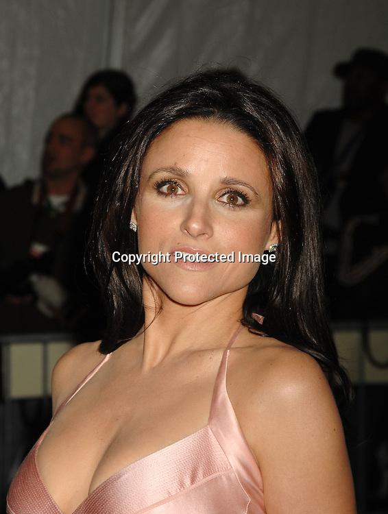 Julia Louis-Dreyfus..arriving at The Metropolitan Museum of Art's Costume Institute Gala on May 7, 2007 in New York City. The Gala celebrates the exhibition: Poiret: King of Fashion..Robin Platzer, Twin Images......212-935-0770