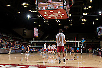 Stanford, CA, February 9, 2017<br /> Stanford Men's Volleyball vs. University of California Los Angeles in Maples Pavilion. Stanford upset UCLA to win 3-2.
