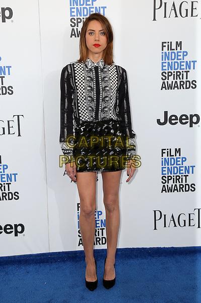 SANTA MONICA, CA - FEBRUARY 25: Aubrey Plaza attends the 2017 Film Independent Spirit Awards at Santa Monica Pier on February 25, 2017 in Santa Monica, California.   <br /> CAP/MPI/PAR<br /> &copy;PAR/MPI/Capital Pictures