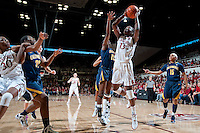 STANFORD, CA-JANUARY 28, 2011: Chiney Ogwumike makes two during a 74-71 overtime win over the Cal Bears.