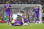 June 3rd 2017, National Stadium of Wales , Wales; UEFA Champions League Final, Juventus FC versus Real Madrid; Toni Kroos of Real Madrid is fouled by Paulo Dybala of Juventus
