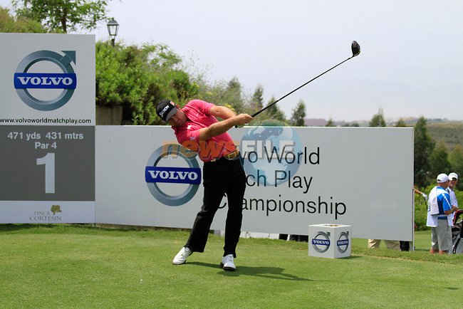 Graeme McDowell (N.IRL) teeing off on the 1st tee during Day 1 of the Volvo World Match Play Championship in Finca Cortesin, Casares, Spain, 19th May 2011. (Photo Eoin Clarke/Golffile 2011)