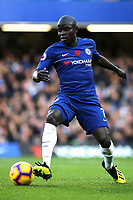 N'Golo Kante of Chelsea in action during Chelsea vs Everton, Premier League Football at Stamford Bridge on 11th November 2018