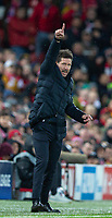 200312 --LIVERPOOL, March 12, 2020 Xinhua -- Atletico Madrid s head coach Diego Simeone gestures during the UEFA Champions league Round of 16 second leg football match between Liverpool and Atletico Madrid in Liverpool, Britain, March 11, 2020. FOR EDITORIAL USE ONLY. NOT FOR SALE FOR MARKETING OR ADVERTISING CAMPAIGNS. NO USE WITH UNAUTHORIZED AUDIO, VIDEO, DATA, FIXTURE LISTS, CLUB/LEAGUE LOGOS OR LIVE SERVICES. ONLINE IN-MATCH USE LIMITED TO 45 IMAGES, NO VIDEO EMULATION. NO USE IN BETTING, GAMES OR SINGLE CLUB/LEAGUE/PLAYER PUBLICATIONS. Str/Xinhua SPBRITAIN-LIVERPOOL-FOOTBALL-UEFA CHAMPIONS LEAGUE-LIVERPOOL VS ATLETICO MADRID PUBLICATIONxNOTxINxCHN <br /> Liverpool 11/03/2020 Anfield <br /> Football Uefa Champions League 2019/2020 <br /> Round of 16 second leg <br /> Liverpool - Atletico Madrid <br /> Photo Imago/Insidefoto <br /> ITALY ONLY