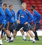Dirk Kuyt training with Holland at Hampden