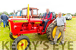 Tom Slattery (Tralee) admiring the 1962 David Brown 880 Red tractor owned by John Quane (Ardfert)  at the Abbeydorney Vintage Family fun day on Sunday.