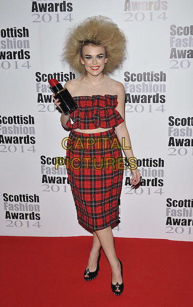 LONDON, ENGLAND - SEPTEMBER 01: Tallia Storm attends the Scottish Fashion Awards 2014, 8 Northumberland Avenue, Northumberland Avenue, on Monday September 01, 2014 in London, England, UK. <br /> CAP/CAN<br /> &copy;Can Nguyen/Capital Pictures