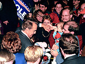 United States Senate Majority Leader Bob Dole (Republican of Kansas), a candidate for the Republican Party nomination for President of the United States, greets audience members after speaking at a rally in Nashua, New Hampshire on February 17, 1996.<br /> Credit: Ron Sachs / CNP