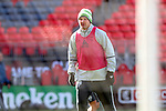 09 December 2016: Seattle's Chad Marshall. Seattle Sounders FC held a training session one day before playing in MLS Cup 2016 at BMO Field in Toronto, Ontario in Canada.