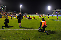The Lions camp on the Baabaas' tryline at the end of the first half of the 2017 DHL Lions Series rugby union match between the NZ Provincial Barbarians and British & Irish Lions at Toll Stadium in Whangarei, New Zealand on Saturday, 3 June 2017. Photo: Dave Lintott / lintottphoto.co.nz