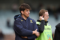 Donncha O'Callaghan of Worcester Warriors looks dejected after the match. Aviva Premiership match, between Harlequins and Worcester Warriors on October 28, 2017 at the Twickenham Stoop in London, England. Photo by: Patrick Khachfe / JMP