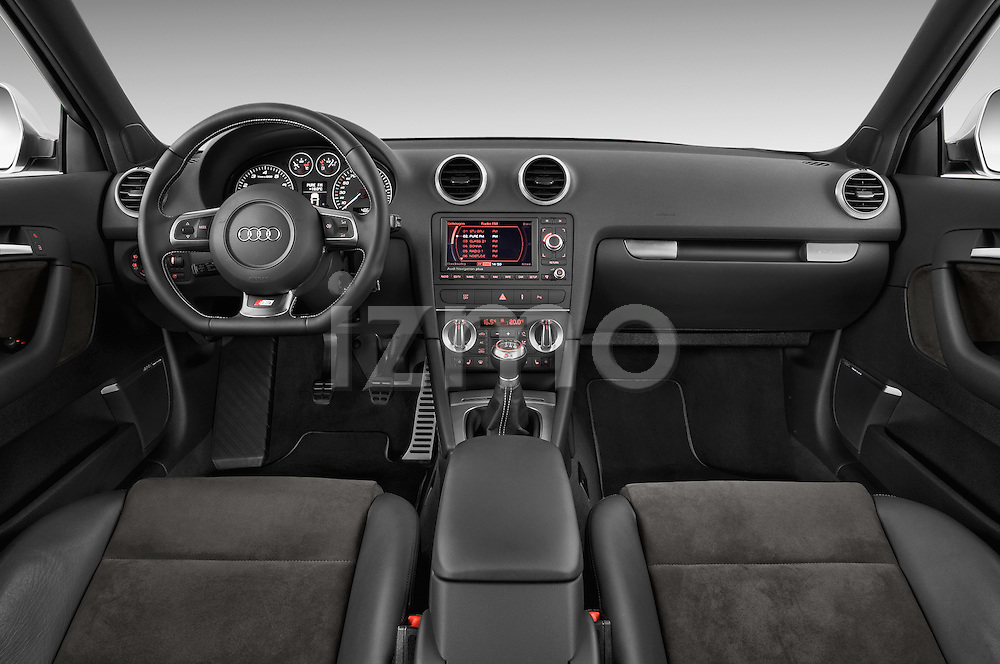 Straight dashboard view of a 2009 - 2013 Audi S3 Sportback 5-Door Hatchback 4WD.