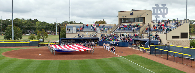 Sept. 29, 2013; The Notre Dame Softball Team and the Wounded Warrior Amputee Softball Team play a fundraiser game at Melissa Cook Stadium.<br /> <br /> Photo by Matt Cashore/University of Notre Dame