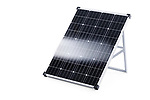 Portable 100 Watt solar panel with crystalline solar cells isolated on white background with a clipping path