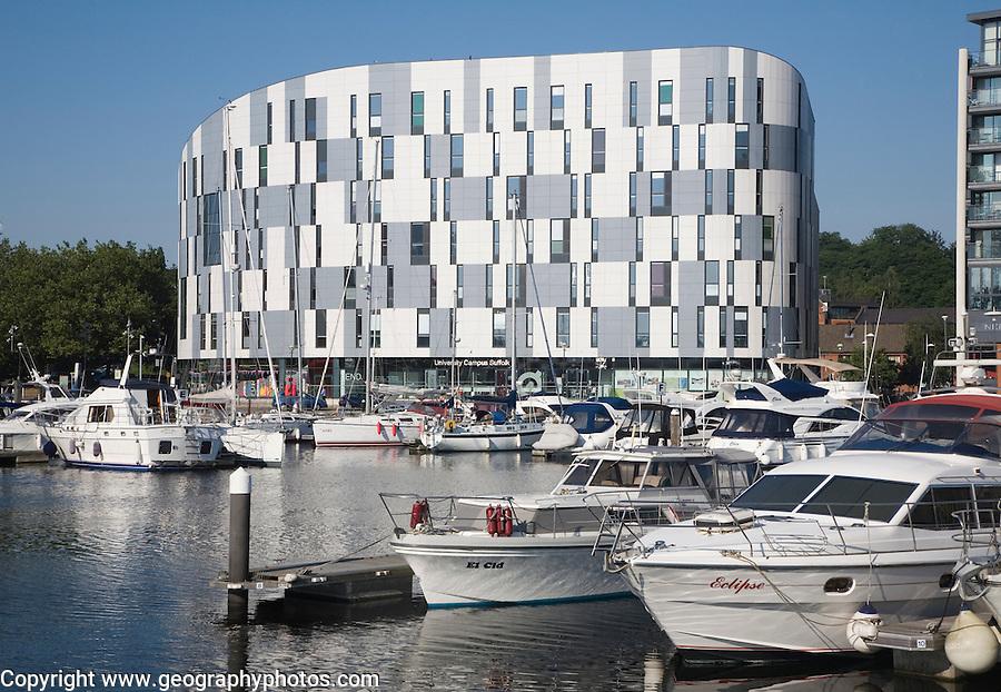 University College Suffolk building, redevelopment of Ipswich Waterfront, Suffolk, England