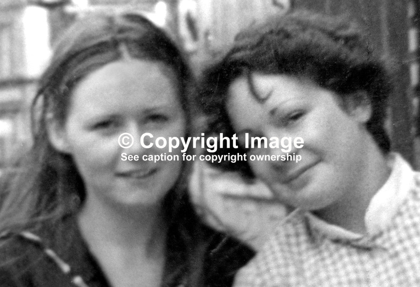 Philomena Green, 16 years, from Lurgan, N Ireland, right, who was killed in a booby-trap explosion in a vacant house in Mary Street. She was along with a friend, Joanne O'Hagan, who survived the blast. They entered the  vacant house, which was rented by Joanne's father, when they saw a light on.  Another friend, Nuala Burke, was also with them at the time and suffered horrific facial and sight injuries in the blast.The Provisional IRA admitted they planted the bomb and apologised to the family. They claimed the house was being used by British soldiers as an observation post. 197611270522a.<br />