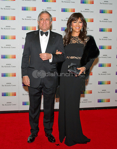 Les Moonves and Julie Chen arrive for the formal Artist's Dinner honoring the recipients of the 38th Annual Kennedy Center Honors hosted by United States Secretary of State John F. Kerry at the U.S. Department of State in Washington, D.C. on Saturday, December 5, 2015. The 2015 honorees are: singer-songwriter Carole King, filmmaker George Lucas, actress and singer Rita Moreno, conductor Seiji Ozawa, and actress and Broadway star Cicely Tyson.<br /> Credit: Ron Sachs / Pool via CNP/MediaPunch