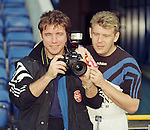 Supper Snapper Ally McCoist and his model Andy Goram ham it up for the cameras in September 1995