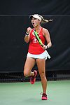 WINSTON SALEM, NC - MAY 22: Caroline Lampl of the Stanford Cardinal celebrates a hit against the Vanderbilt Commodores during the Division I Women's Tennis Championship held at the Wake Forest Tennis Center on the Wake Forest University campus on May 22, 2018 in Winston Salem, North Carolina. Stanford defeated Vanderbilt 4-3 for the national title. (Photo by Jamie Schwaberow/NCAA Photos via Getty Images)