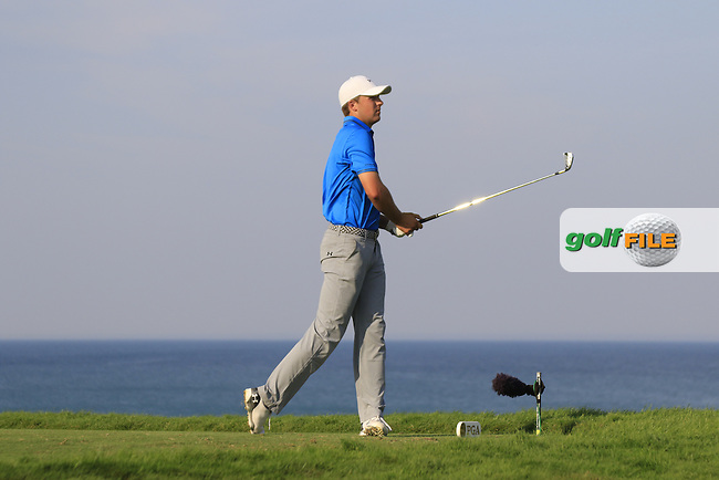 Jordan Spieth (USA) tees off the par3 17th tee during Sunday's Final Round of the 97th US PGA Championship 2015 held at Whistling Straits, Mosel, Kohler, Wisconsin, United States of America. 16/08/2015.<br /> Picture Eoin Clarke, www.golffile.ie